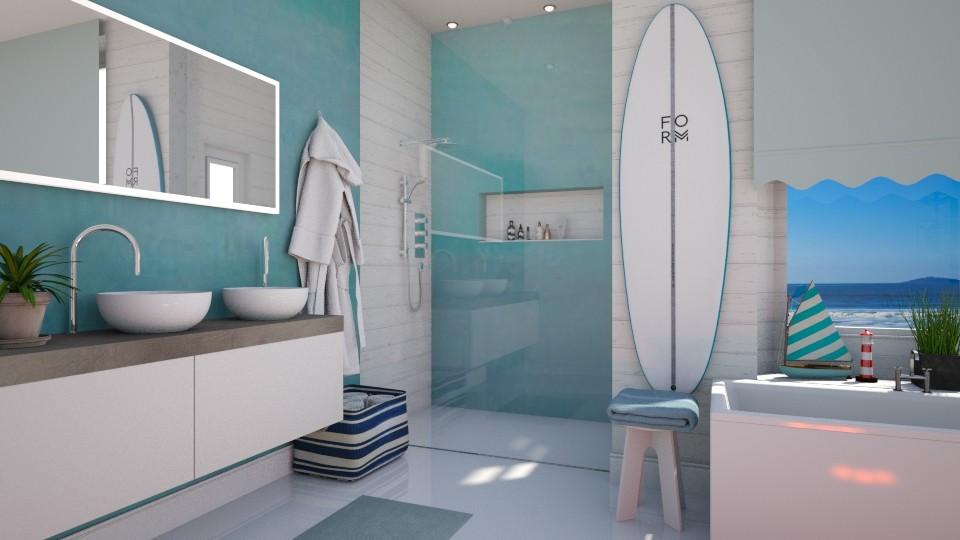 Nautical Bathroom - by neide oliveira