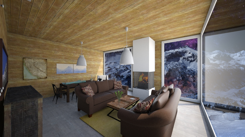 37 Mountain house - Living room - by Agata_ody