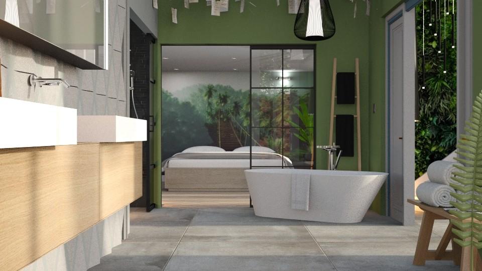 Jungletheme Bath - by Gwenda van Maaren