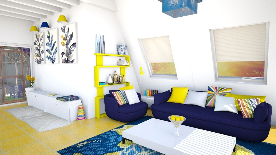Color Splash - Living room - by anniecleetus