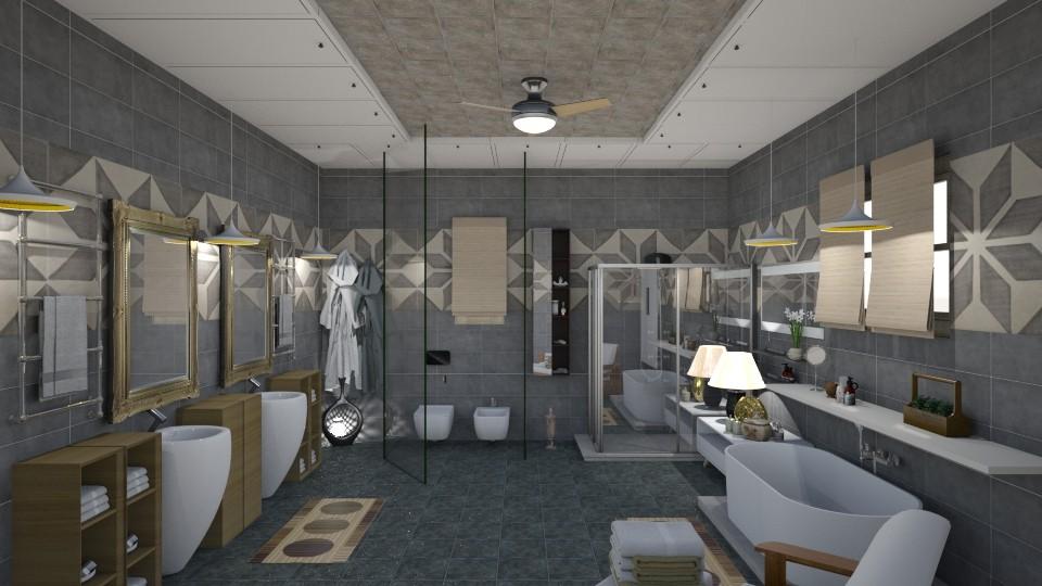 bathroom for enjoying - Bathroom - by nat mi