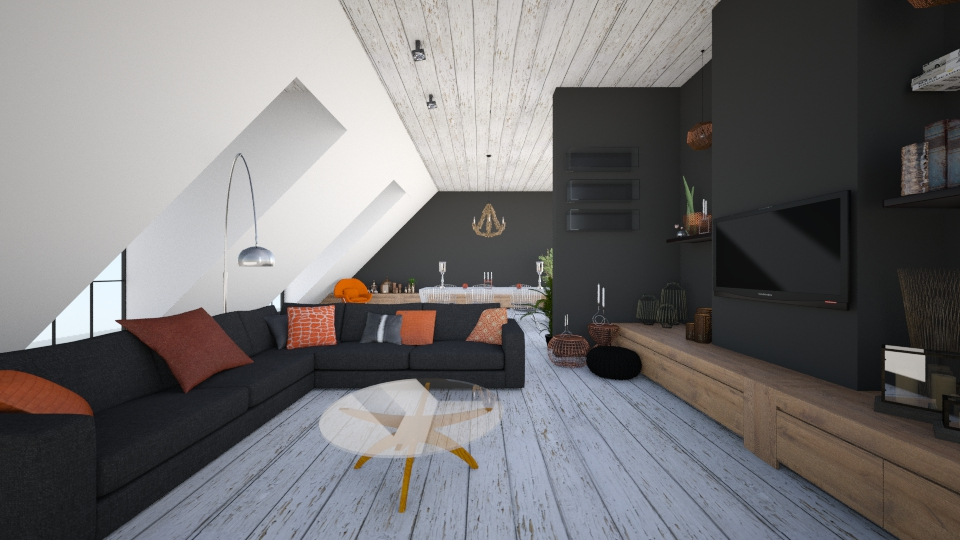 Attic LivingRoom - Living room - by StienAerts