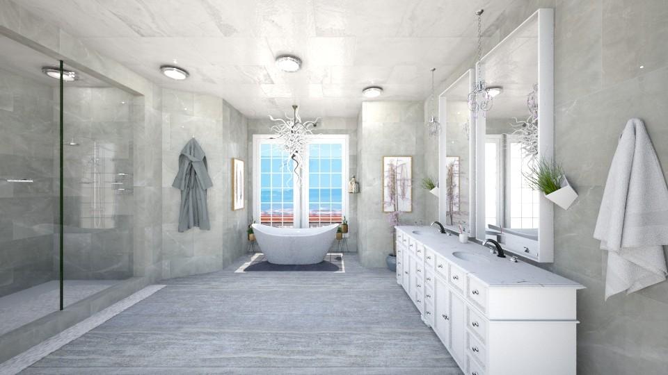 marble bathroom - Bathroom - by fernadia3