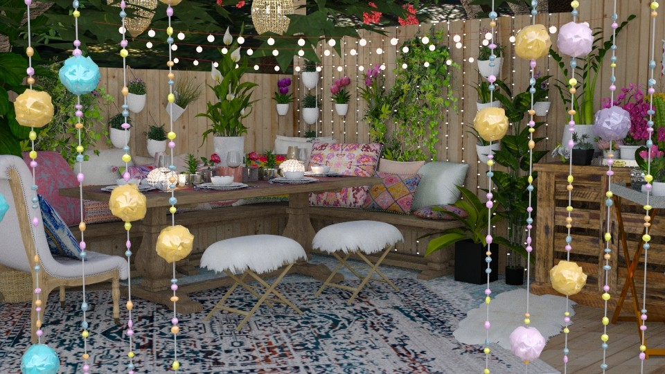 boho garden party - by minervinoi