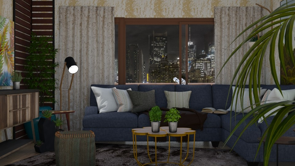 Urban Jungle - Living room - by RaeCam