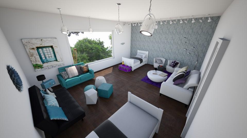 Bedroom Purple - Bedroom - by AppleSpongeCake