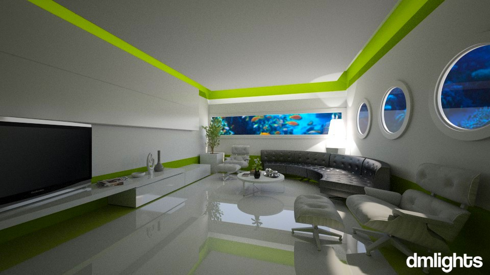 World Under Water - Modern - Living room - by Claudia Correia