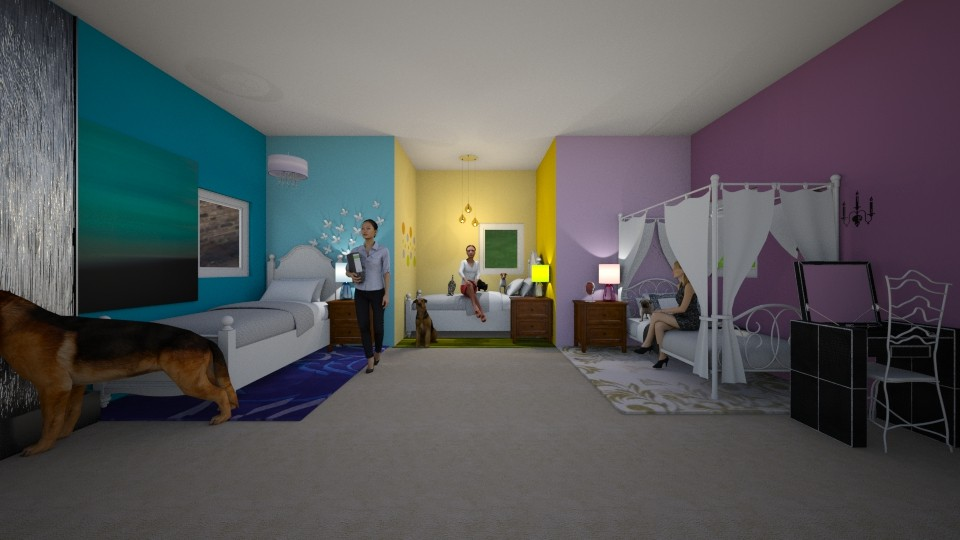 Triplets Room - by Star_Lilly