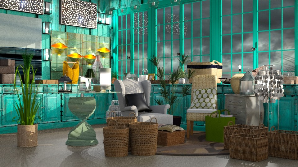 Seagrass - Rustic - Living room - by InteriorDesigner111