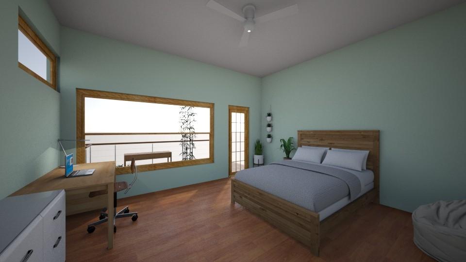 My Dream Room Daytime - Minimal - Bedroom - by Ameera Peachy Mint