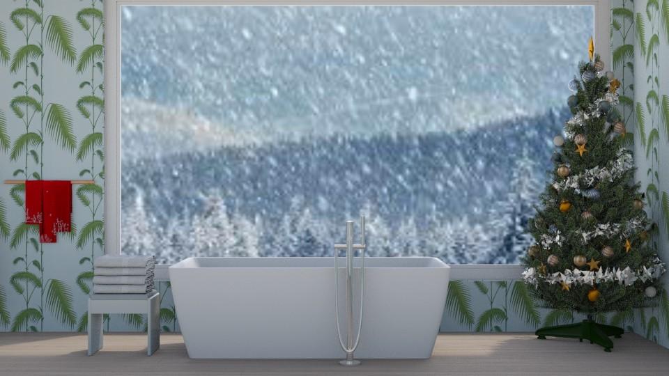 christmas bathroom - by Ellie665