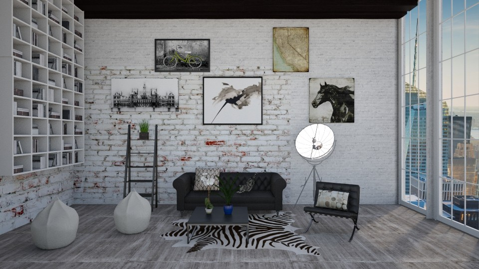 Industrial books - Living room - by bgref