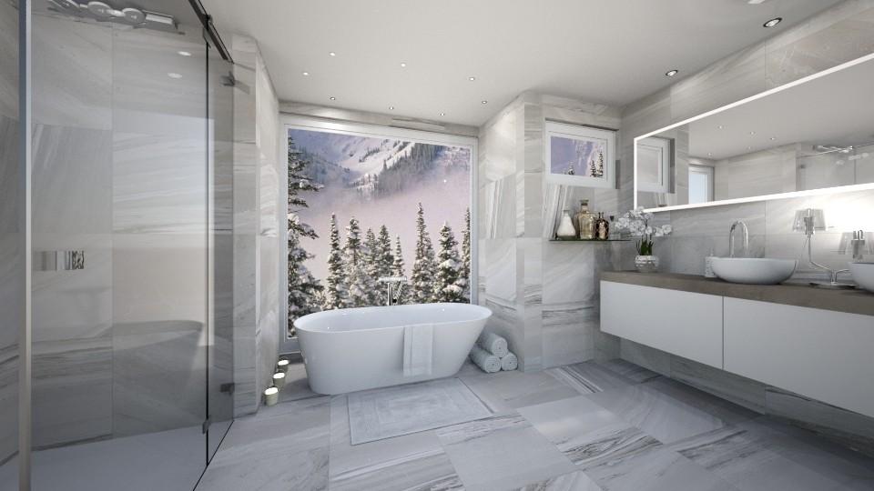 Snowy idill - Bathroom - by niquiche