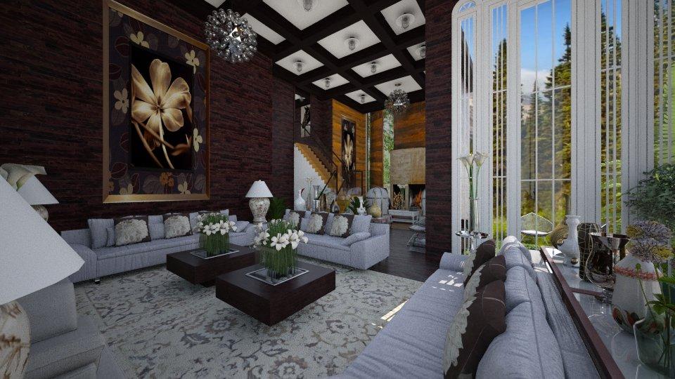 Sala Marrom - Living room - by Maria Helena_215