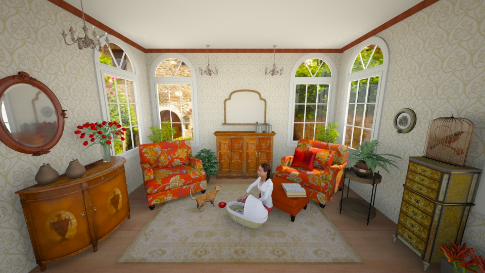 orangely  cozy - Feminine - Living room - by yarah