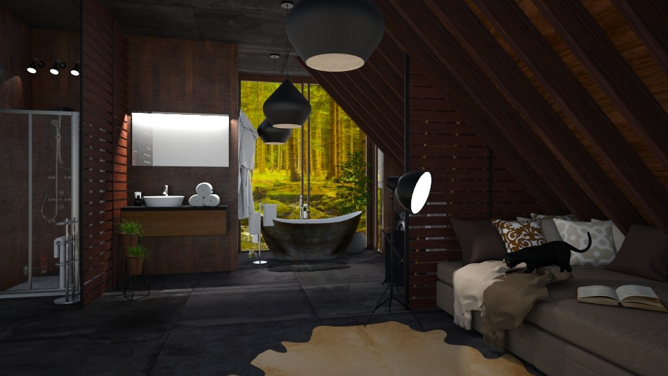 Black - Modern - Bathroom - by sillvie
