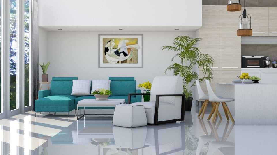 Mr Blue _ Miss White - Eclectic - Living room - by ayudewi