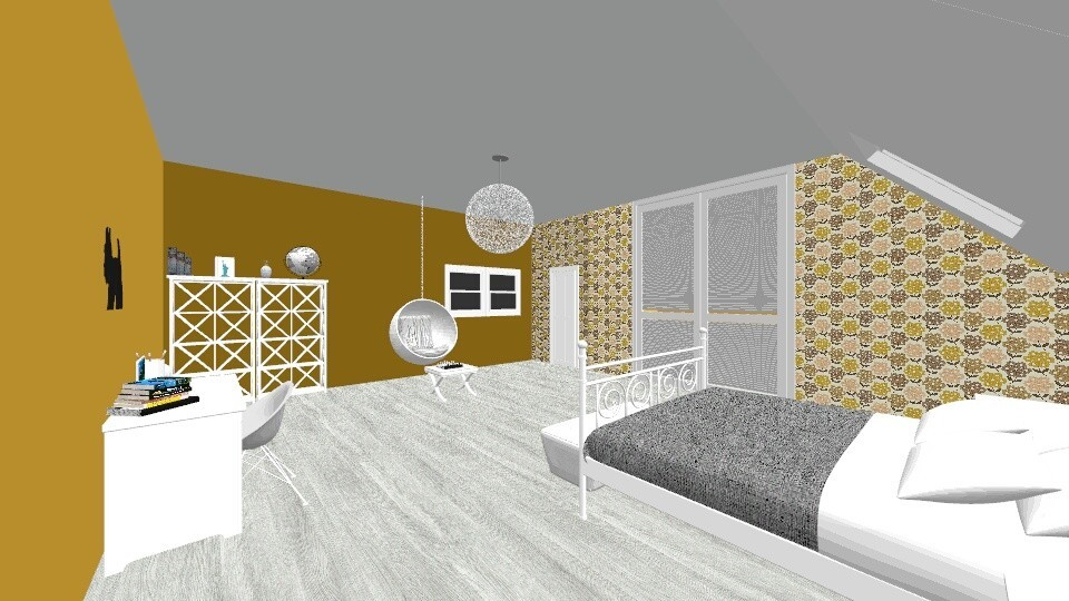Yellow Gray Bedroom 1 - Modern - Bedroom - by ansleymwhitaker