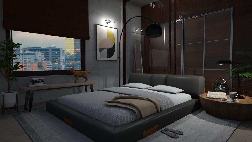 Man Room  - Bedroom - by zabarra
