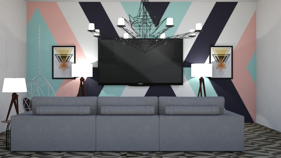 Geometric Pattern - Living room - by Ellie665