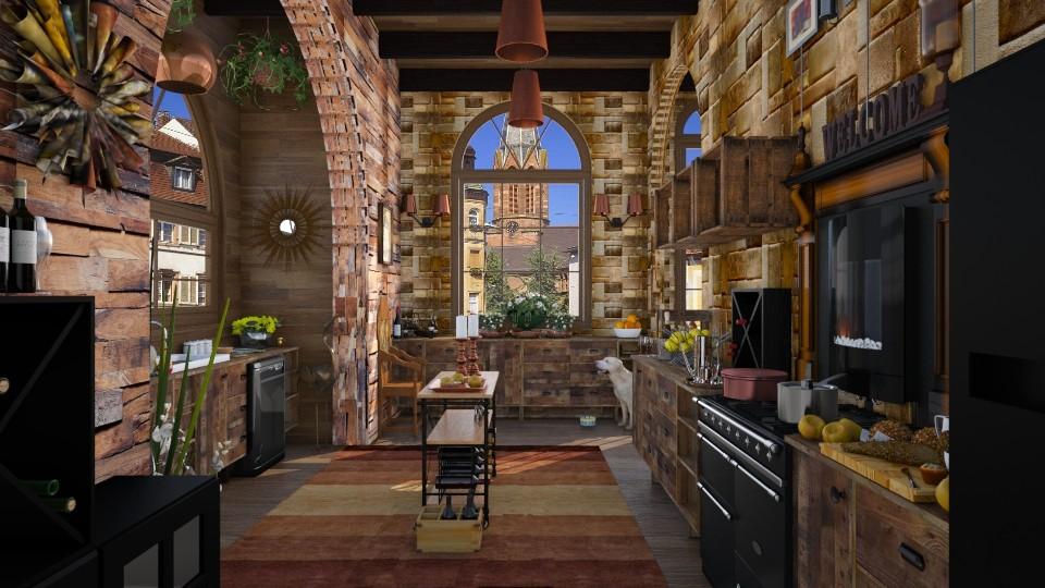 Design 50 Rustic Galley Kitchen Kitchen By Daisy320