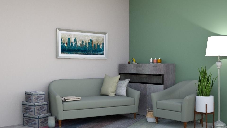 Teal Living - Classic - Living room - by Kekol