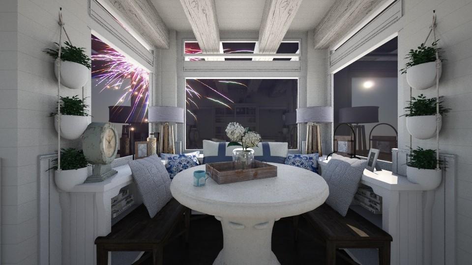 Bring on The Lights - Rustic - Dining room - by SimonRoshana