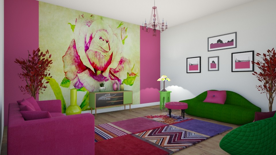 Rose - Living room - by KarmaKitten