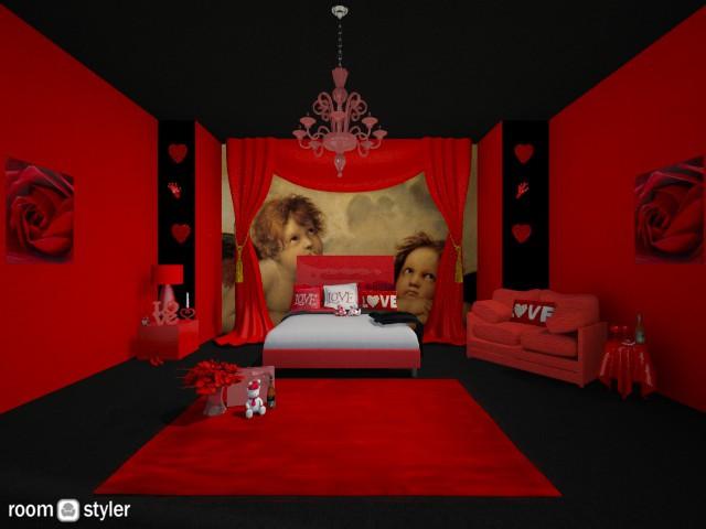 Valentines - Bedroom - by creato
