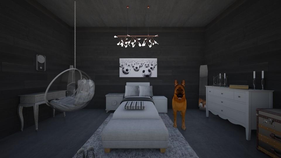 Classy Athlete Bedroom - Bedroom - by Makena Holdaas