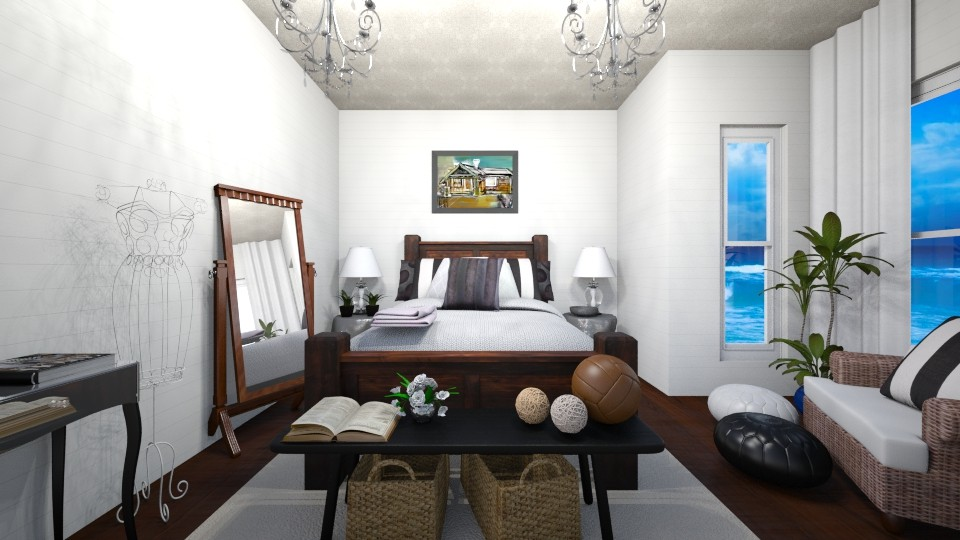 Rustic Oasis - Global - Bedroom - by Raquel Collison