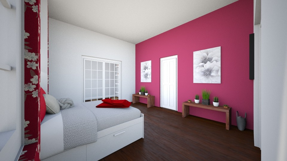 Red Gardener - Feminine - Bedroom - by WPM0825