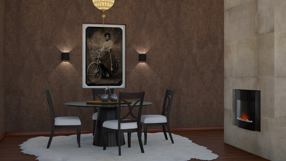 Suede Wall - Dining room - by yonvie