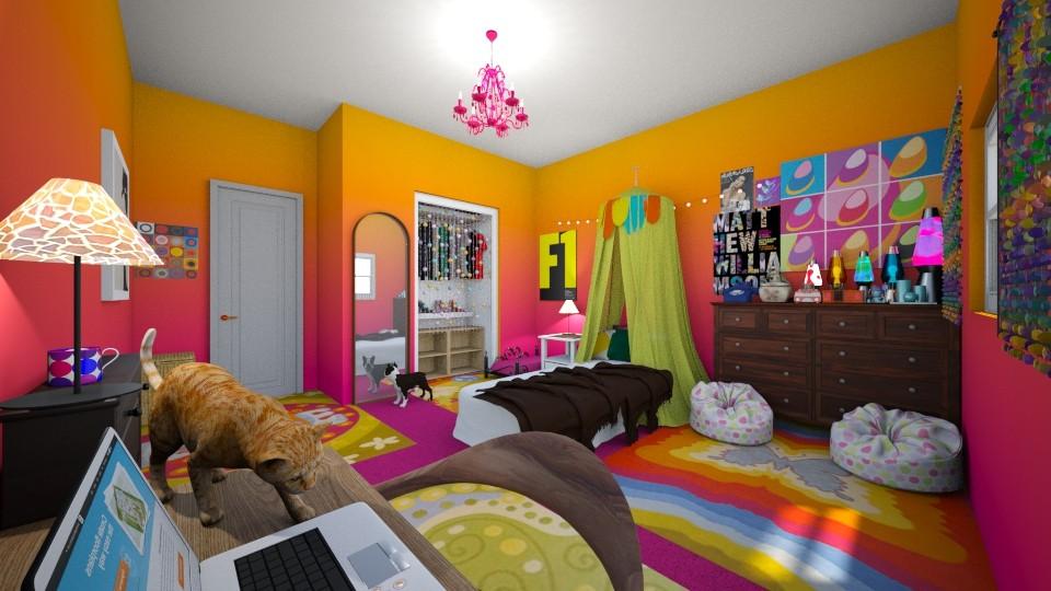 Free thinking Girl - Bedroom - by ijustlikemakingfloorplans