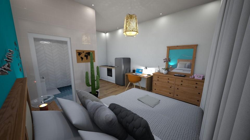 Dorm Room - Bedroom - by Marion_