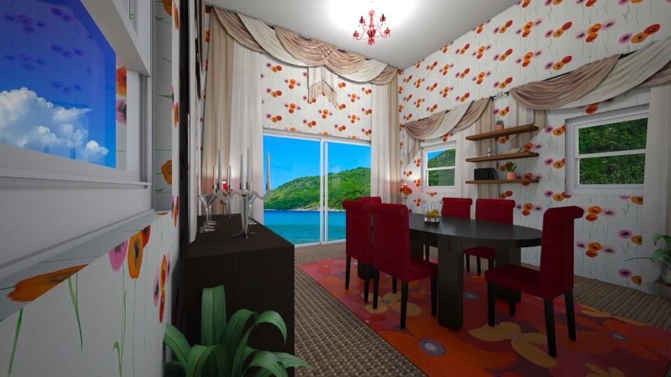 seaside dining room - by janelouise17