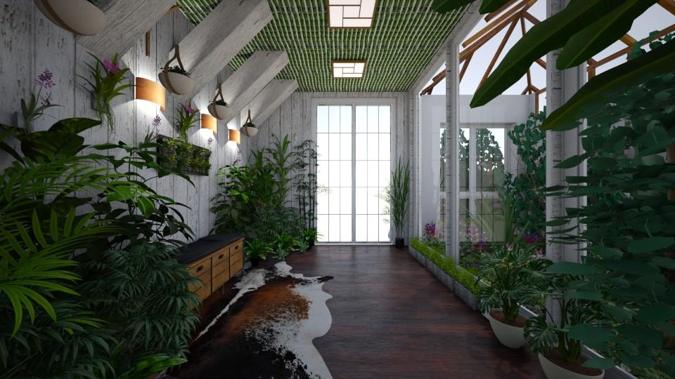 Urban Jungle Hallway - Office - by Nina Colin