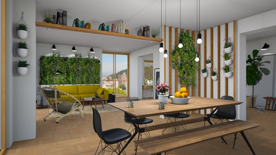 Plants in the Living room - Modern - Living room - by Valkhan