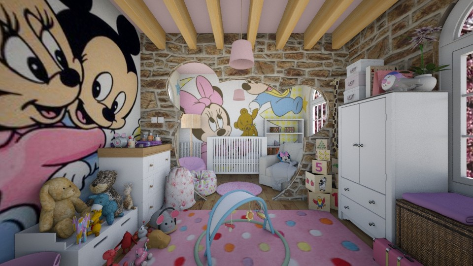 Minnie Mouse Room - Kids room - by alexlag