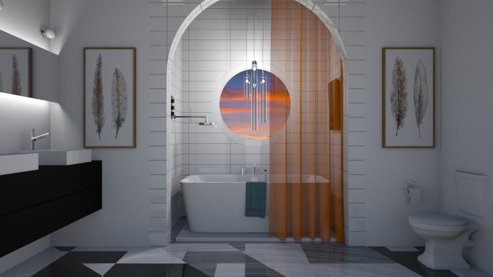 Swan Bath - Bathroom - by Bekah Lynn