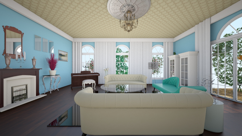 Colonial Renovation - Living room - by Evihun