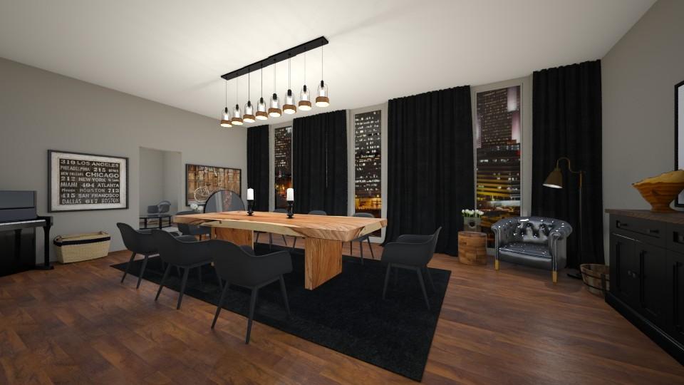 Dark Dining Room - Dining room - by LaughingDonut