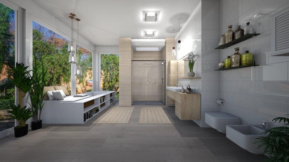 Skylight in Bathroom - Bathroom - by JarkaK