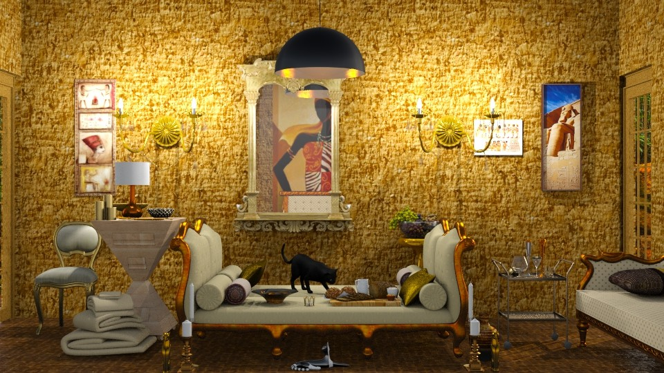 Golden Age Of Egypt   - Glamour - Living room - by InteriorDesigner111