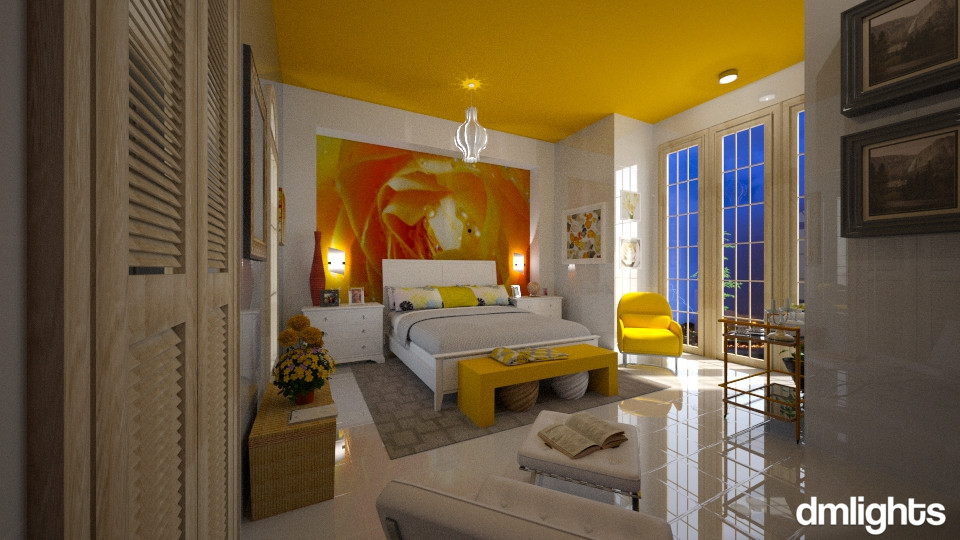 Quarto  Amarelo - Bedroom - by DMLights-user-994540