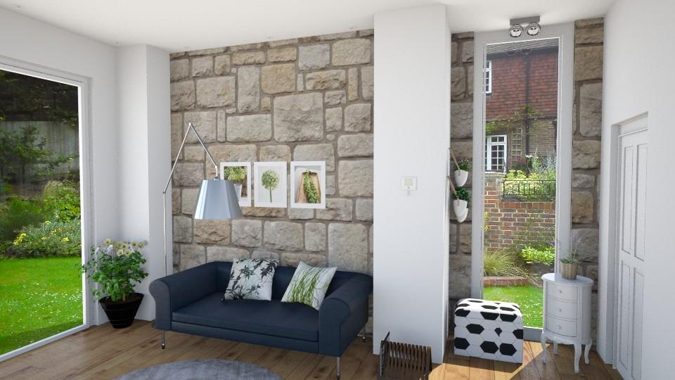 room stone - Living room - by Monica V Seke
