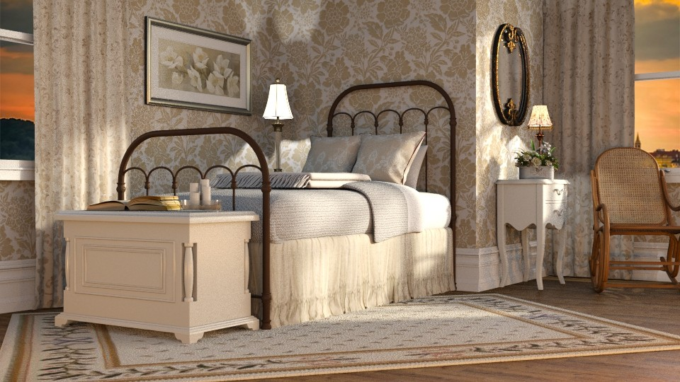 French Country - Bedroom - by GraceKathryn