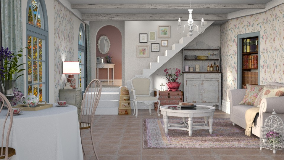 Shabby Chic Livingroom - Living room - by Mandine