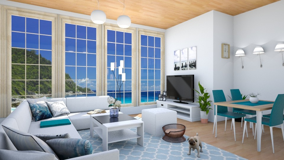Beach house - Modern - Living room - by ljiljanan