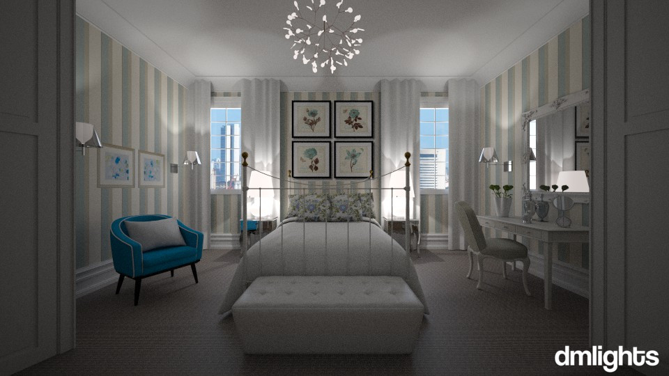 Suave Azul - Bedroom - by DMLights-user-983971